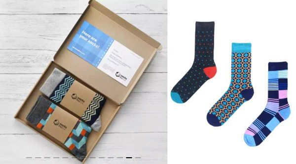 Socks in a box subscription